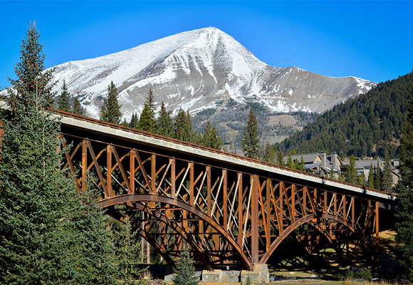 Ironworker project in Big Sky Montana, the Eglise Bridge